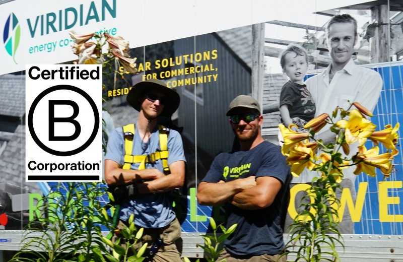 Viridian Energy Co-operative is officially a certified B Corporation