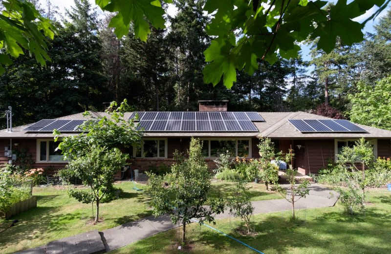 Solar panels on roof North Saanich
