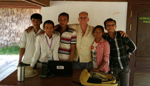 Don in Cambodia with Students